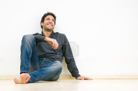 Happy thinking guy