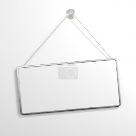 Iron sign hanging