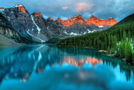 Moraine Lake Sunrise Colorful Landscape