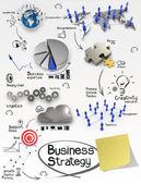 手绘创意无限的商业战略上弄皱的纸