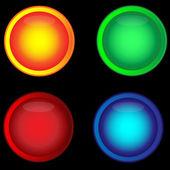 多彩的按钮