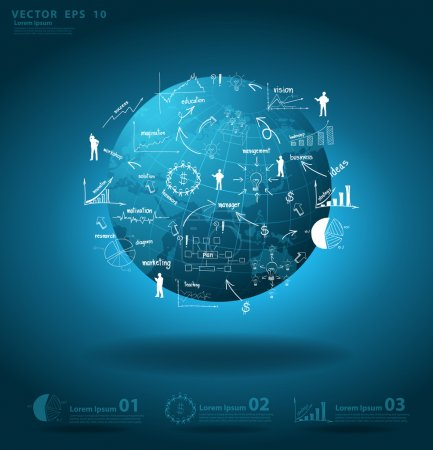 Global business around the world economy concept