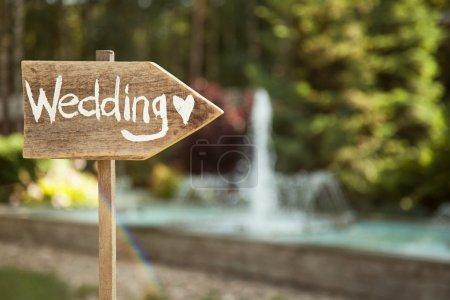 Wedding. Decor. Pointer symbol wedding.