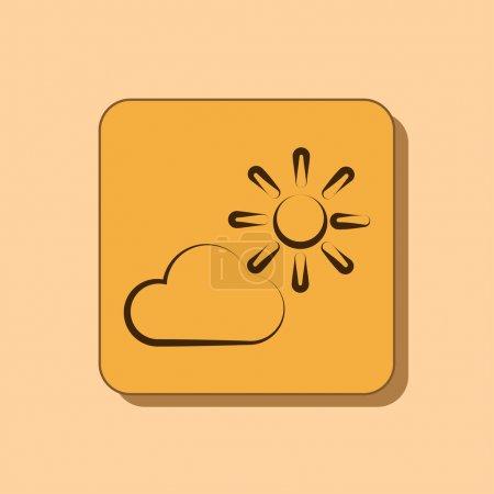 云与太阳图标